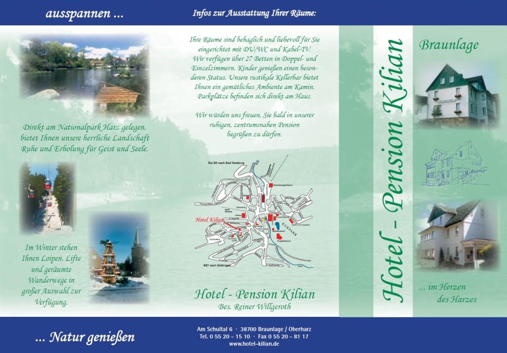 Hausprospekt Hotel-Pension Kilian